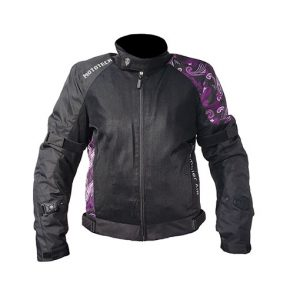 MOTOTECH Scrambler Air Women's Motorcycle Jacket – Purple – Level 2