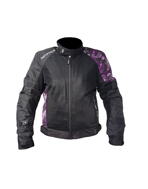 MOTOTECH Scrambler Air Women's Motorcycle Jacket – Purple – Level 2