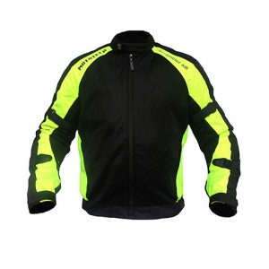 MotoTech Scrambler Air Motorcycle Jacket – Flourescent Green