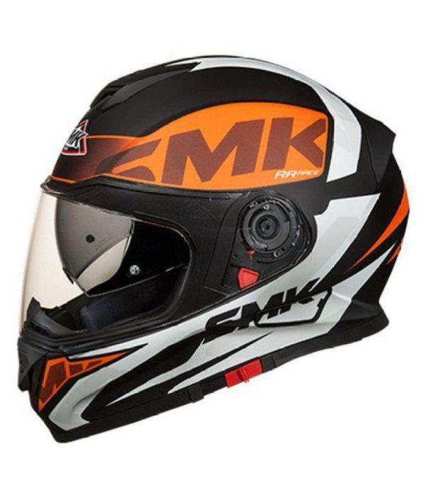 SMK Twister Logo Orange Helmet