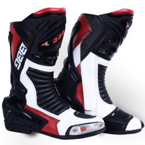 BBG CALF BOOT – WHITE & RED
