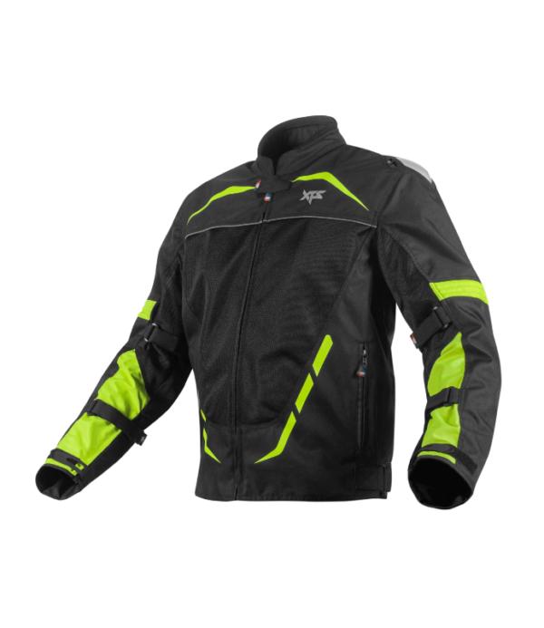 XTS Dynamo Riding Jacket – Black Hi-Viz Green