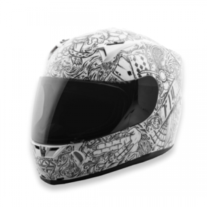 FLY RACING REVOLT FS INK & NEEDLE (GLOSS WHITE BLACK)