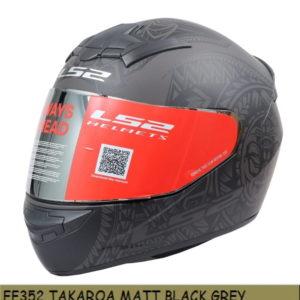 LS2 FF352 TAKAROA MATT BLACK GREY