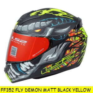 LS2 FF352 DEMON MATT BLACK YELLOW