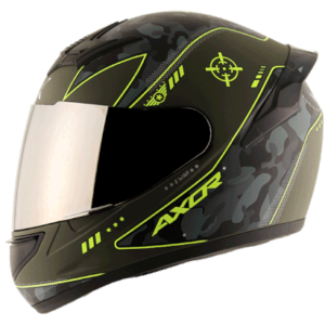 AXOR RAGE WAR Athena Grey Neon Yellow Helmet