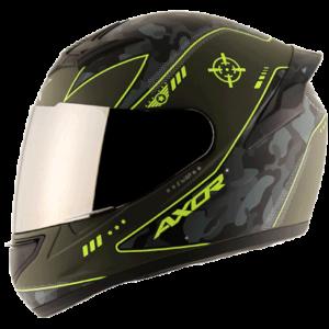 AXOR RAGE WAR Athena Grey Neon Yellow Helmet