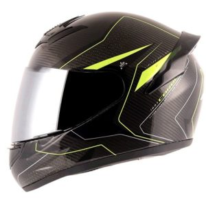AXOR Rage Carbon Warfare Black Neon Yellow Helmet
