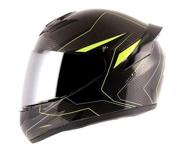 AXOR Rage Carbon Warfare Black Neon Yellow Helmet