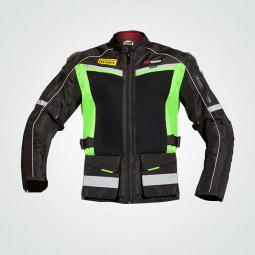TBG WANDERER - Mesh Riding Jacket Black/Fluro