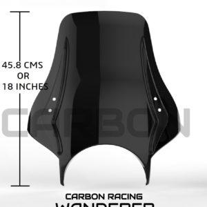Carbon Racing Windshield for Royal Enfield Interceptor 650