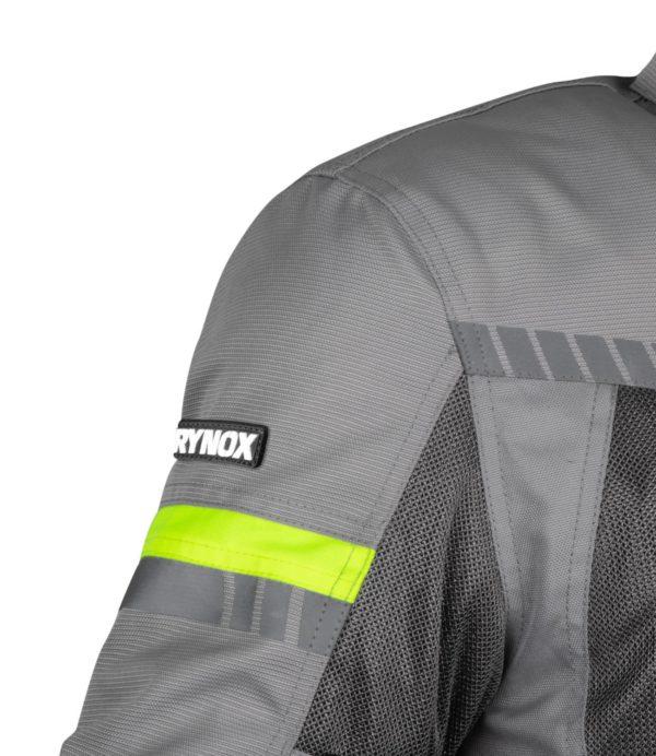 RYNOX AIR GT 3 JACKET Grey Hi-viz Green