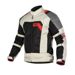 XTS SPEEDWAY JACKET (OFF WHITE GREY RED)