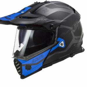LS2 PIONEER EVO MX436 COBRA MATT BLACK GREY BLUE